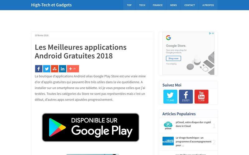 Vincent Abry : Les Meilleures applications Android Gratuites 2018